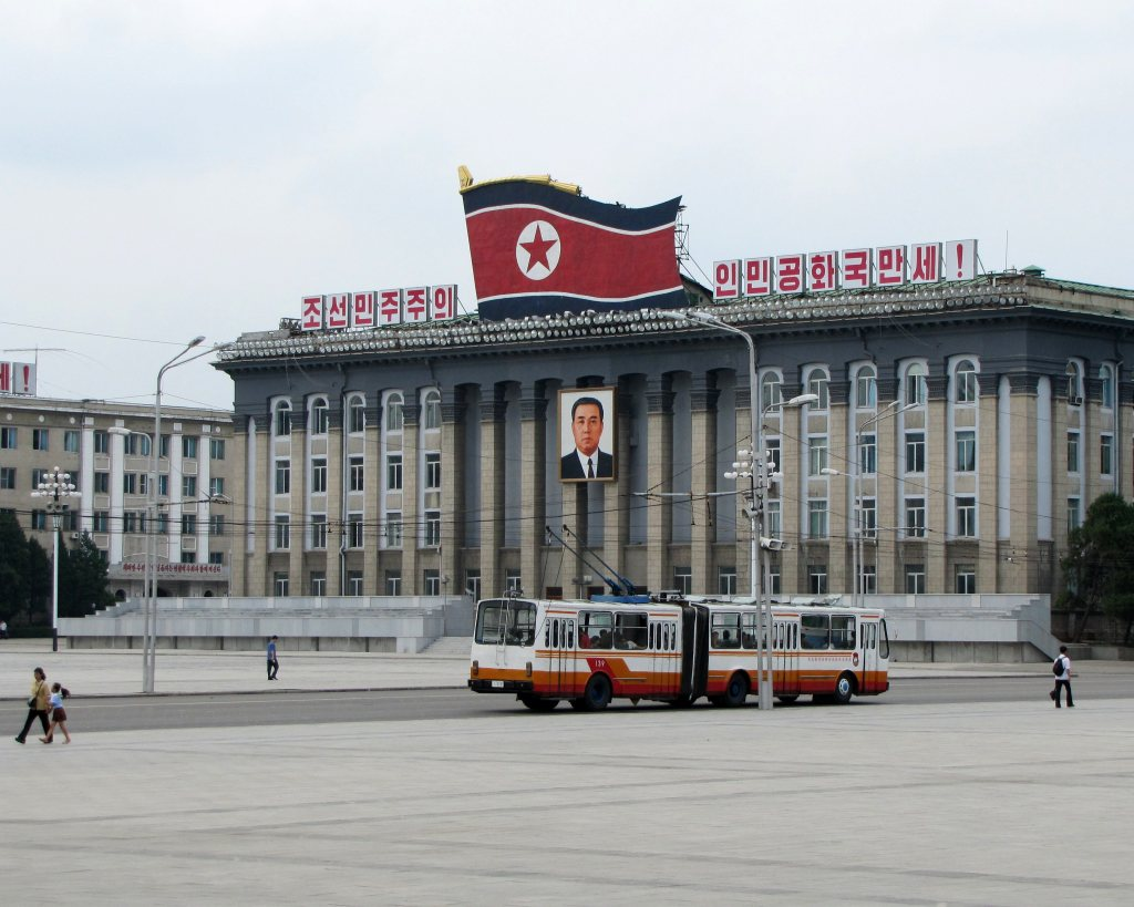 Kim Il-Sung Square in Pyongyang.